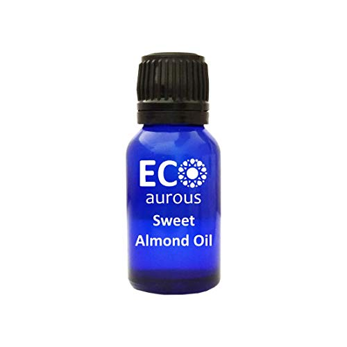 Sweet Almond Oil 100% Natural, Organic & Vegan Essential Oil | Absolute Essential Oil by Eco Aurous with Euro Dropper (10 ml)