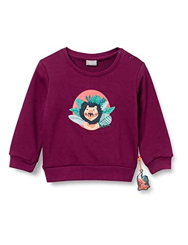 Sigikid Baby-Mädchen Sweatshirt aus Bio-Baumwolle für Kinder, Lila/Jungle, 86
