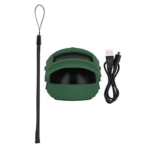 Zwinner Altavoz portátil, Altavoz de Sonido estéreo Práctico Multifuncional con Cuerda para Colgar para teléfono móvil para Tableta(Green)