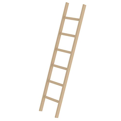 Holz-Anlegeleiter 6 Sprossen Arbeitshöhe bis ca. 3,00 m