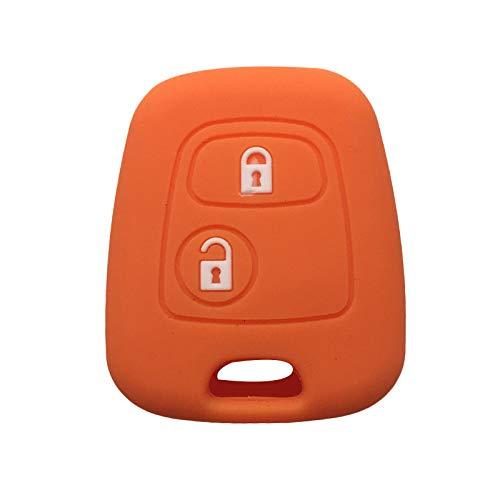 Cubierta de la llave del coche Compatible con Peugeot 107 Caja de la llave de silicona Compatible con Peugeot 106 206 207 307 Cubierta de clave Control remoto Control Remoto Cubierta de clavija Protec