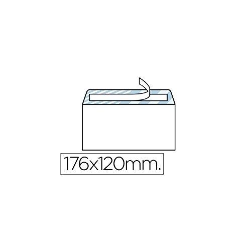 Liderpapel - Sobre N.9 Blanco Comercial Normalizado 120X176Mm Tira De Silicona Caja De 500 Unidades