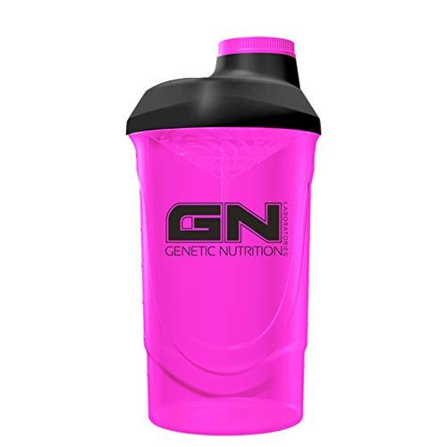 GN Laboratories Wave Shaker Proteinshaker Eiweiß Protein Shaker 600ml Fassungsvermögen (Pink)