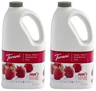 Torani Real Fruit Smoothie Mix STRAWBERRY 64oz (2 Pack)
