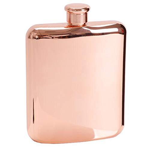 Cikuso Rose Gold 6 Oz Acero Inoxidable Vodka Cadera Hip Frasco para Botellas de Alcohol Licor Botella de Whisky Padrinos de Boda Regalos con Embudo
