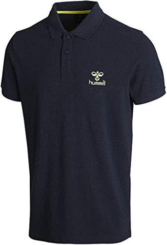 Hummel Herren Poloshirt Classic Bee SS, dress blue melange, L, 02500-8248