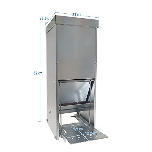 Futterautomat mit Trittklappe 10 kg - 6