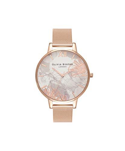 Olivia Burton Damen Analog Japanisch Quarz Uhr mit Edelstahl Armband OB16VM15