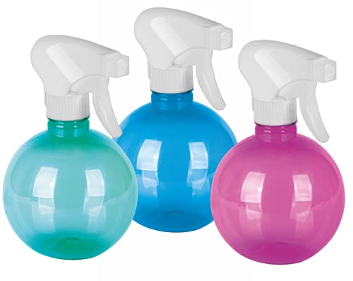 ActivoTex Pulverizador de Agua para Peluquería 400 ml (3 Uds) Spray Pulverizador Desinfectante, Botella Spray Vaporizador Plantas, Botella Spray