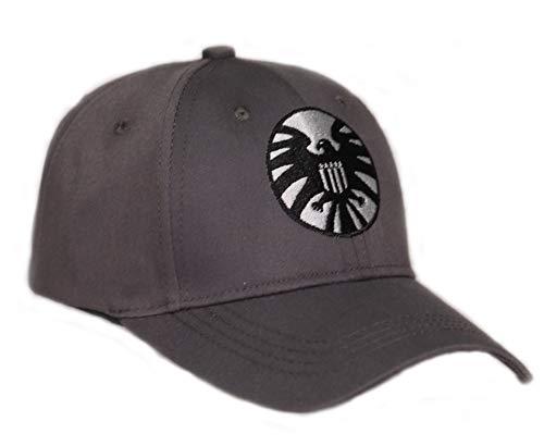 PandaCos Gorra de Beisbol Cosplay de Película Capitán Shield Gris Oscuro Cap Algodón Hombres&Mujeres Regalo