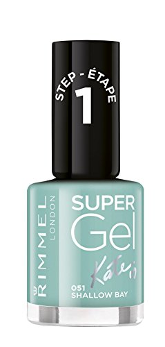 Rimmel London Super Gel van Kate Moss nagellak Duo Pack, schaduw 12, Soul Session, nude Pack of 1 Mintkleuren