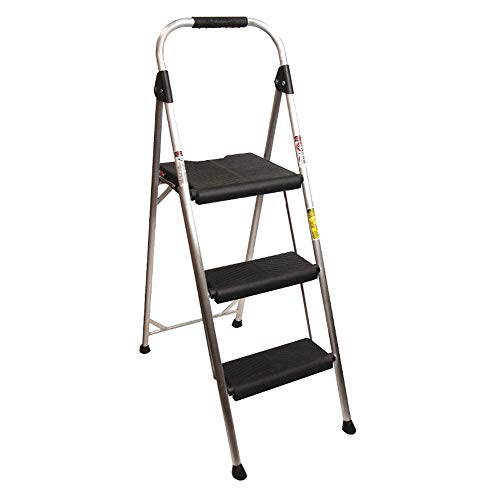 Werner 3-Step 250 lbs. Capacity Silver Aluminum Foldable Step Stool