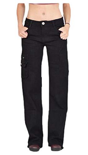 H&E - Pantalones Cargo para Mujer con múltiples Bolsillos, Talla Grande