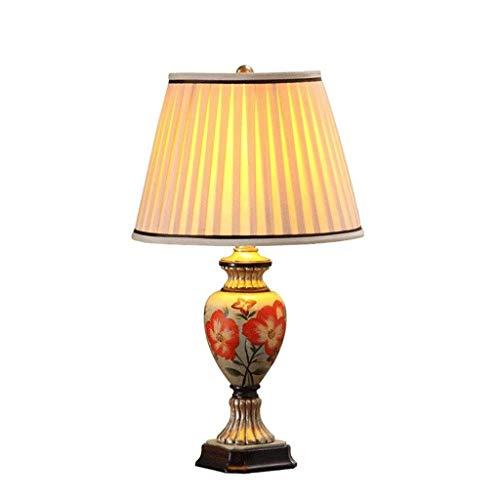HNBMC Mesa de Resina clásica Retro lámpara de Mesa Dormitorio de Noche Resina Escritorio luz Sala de Estar iluminación decoración lámpara-21341a2r5q