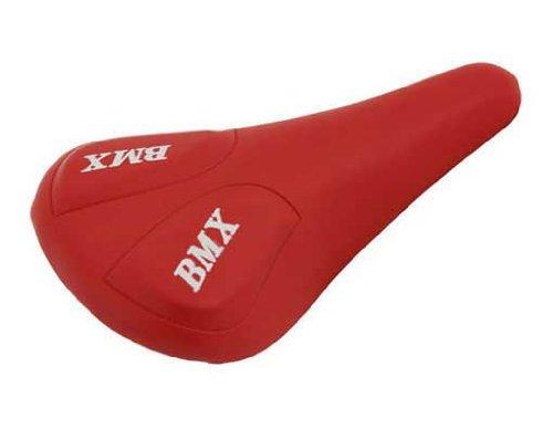 Alta Vinyl Diamond Pattern Vinyl BMX Bike Saddle, Multiple Colors (Red)
