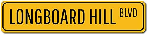 Yilooom Longboard Hill BLVD Sign, Custom Beach Street Sign, Ocean Lover ENSA1002167