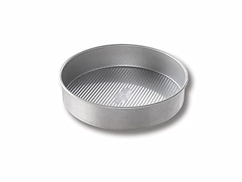 USA Pan Bakeware Round Cake Pan, 8 inch, Nonstick & Quick Release Coating, Made in the USA from...