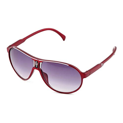 KKAAMYND Gafas de sol de diseño moderno para niños y niñas con marco de plástico, fáciles de combinar, rojas, vintage y elegantes para llevar a tu bebé.