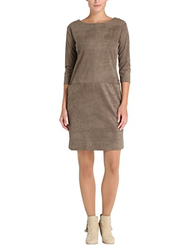 Berydale Damen Kleid in Lederoptik, Khaki, S