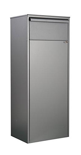 Allux 800 Paketbriefkasten F54809 - Galvanisierter Stahl XL Paketbox, rückseitige Entnahme, Anthrazit