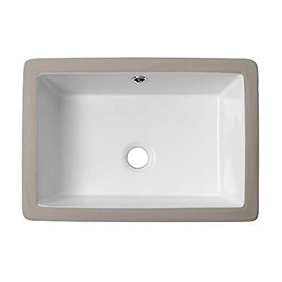 Rectangle Undermount Bathroom Sink - Lordear 18'' Undermount Vessel Sink Rectangle Pure White Porcelain Ceramic Lavatory Vanity Sink