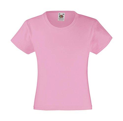 Mädchen T-Shirt Girls Kinder Shirt - Shirtarena Bündel 116,Rose