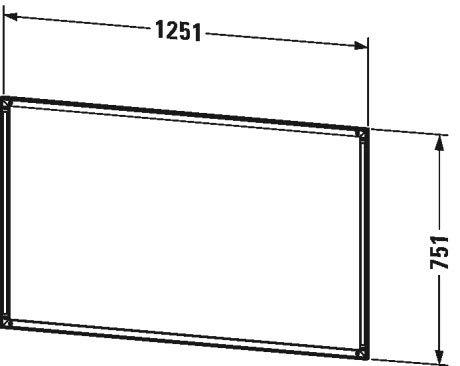 Duravit L-Cube Einbaurahmen für Spiegelschrank, 1250x10 mm, mit integrierter Touch LED - LC968800000