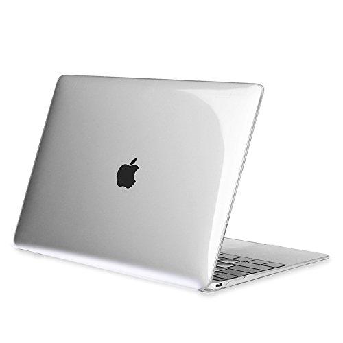 """FINTIE Coque pour MacBook 12 Retina - Haute Qualité Plastique Transparent Dur étui Housse pour Macbook 12"""" avec Retina Display A1534 [2015 Version], Transparent Clair"""