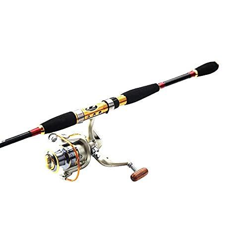 DealMux Angel Canne da pesca in carbonio Canna da barca rossa Power Fish Ocean Rod Jig Jigging Pole Deep Sea Pole 1.8m 2.1m 2.4m (Colore: 01, Dimensioni: 2.4)