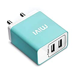 Mivi WC231 3.1A Dual Port Smart Wall Charge Adapter