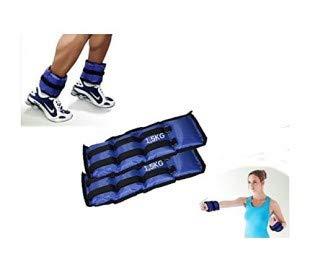 Pack de 2 pesos desde 1,5 KG hasta 4 KG para los tobillos y muñecas – Producto Fitness / Entrenamiento y adelgazamiento gimnasio en casa - mws1951 (1,5 kilogramos)