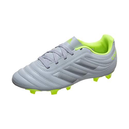 adidas Copa 20.4 FG Football Shoe, Grey/Matte Silver/Solar Yellow, 30 EU