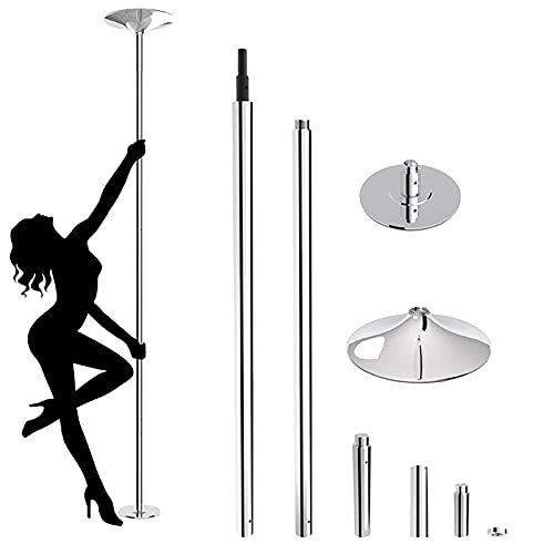 zmtzl 45mm Spinning & Static Pole Dancing Pole for Lap Dance Stainless Steel Capacity 200kg Portable Fitness Pole Fitness Exercise Stripper Professional Pole Dancing