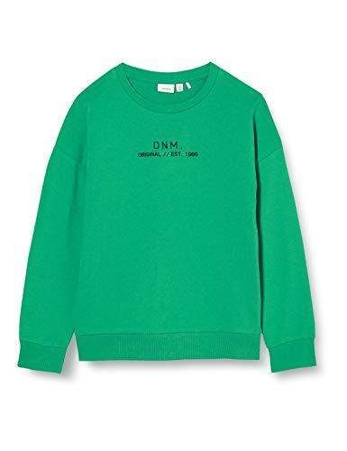 NAME IT Jungen NKMBASIM LS SWEAT UNB Sweatshirt, Grün (Leprechaun), 122-128