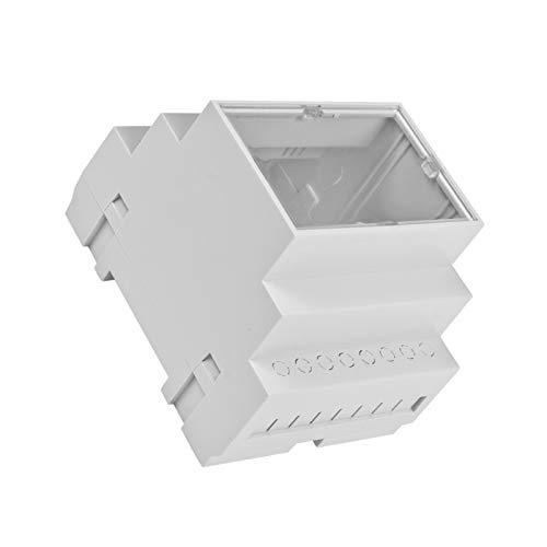 WITTKOWARE Hutschienengehäuse mit Klarsichtdeckel, grau, 90x70x65mm