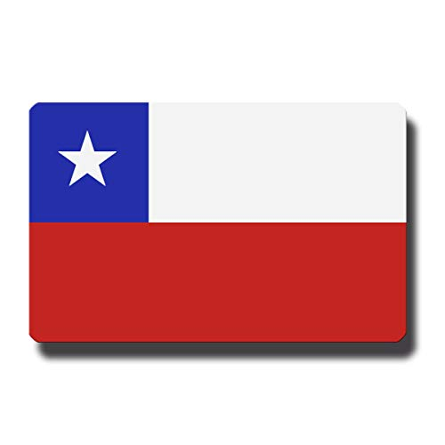 Kühlschrankmagnet Flagge Chile - 85x55 mm - Metall Magnet mit Motiv Länderflagge