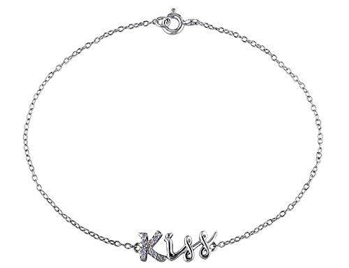 0.04 CT Diamond TW Bracelet With Chain Silver (0.04 Ct Tw Diamond)