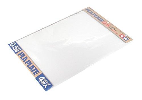 タミヤ 楽しい工作シリーズ No.123 白色プラバン 0.5mm厚 B4サイズ 4枚入 工作素材 70123