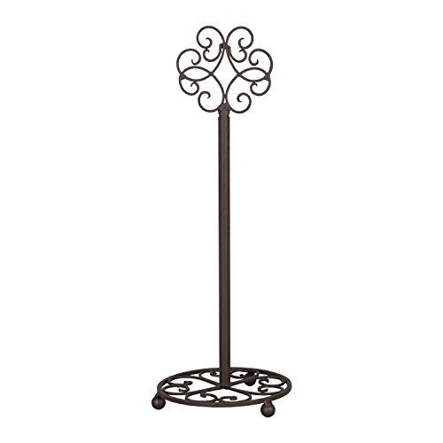 Clayre & Eef 6Y1251 Küchenrollenhalter/Papierrollenhalter/Rollenhalter Stehend EisenØ 15 * 42 cm