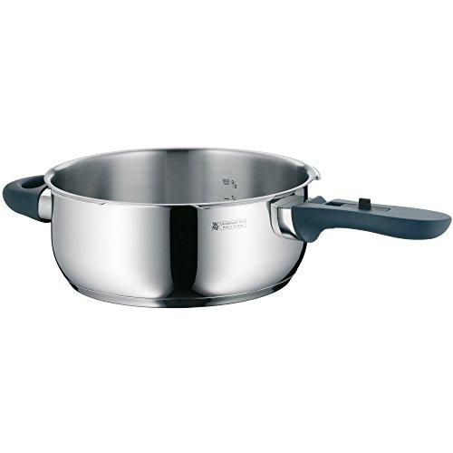 WMF Perfect Plus Schnellkochtopf- Unterteil Induktion 3l, Dampfkochtopf ohne Deckel, Cromargan Edelstahl poliert, 2 Kochstufen
