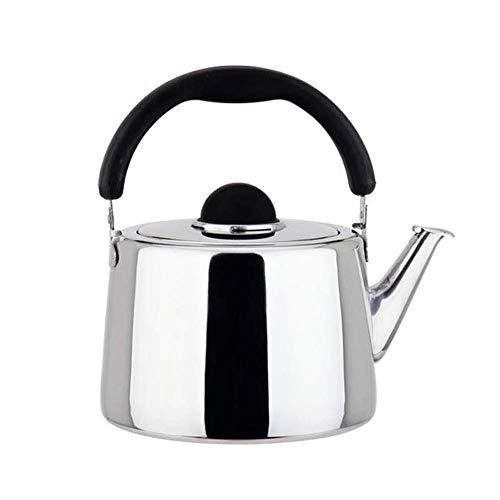 Kettle Wyf Acero Inoxidable Moderna Whistling Gas Tetera for la inducción Placas de Gas de cerámica de Cocina Camping quemadores Calderas, Multi-Size (Tamaño: 4L)