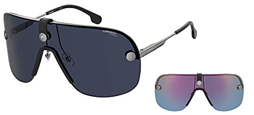 Carrera Gafas de sol CA EPICA II 6LB / KU Gafas de sol unisex color Plata azul tamaño de la lente 99 mm