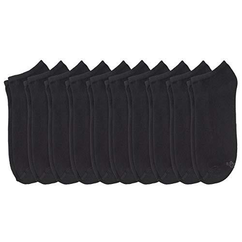 s.Oliver Unisex Sneaker Socken 10er Pack, Größe:43-46, Farbe:Black (0005)