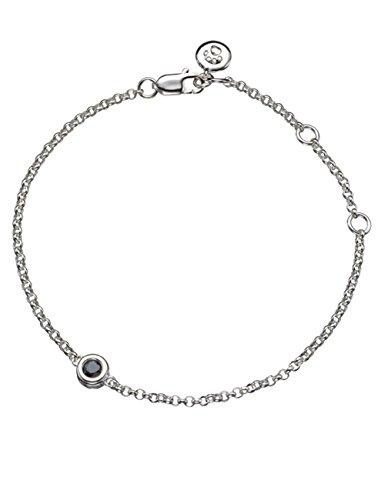 Molly Brown | Braccialetto in argento con pietra di zaffiro per le nate nel mese di settembre