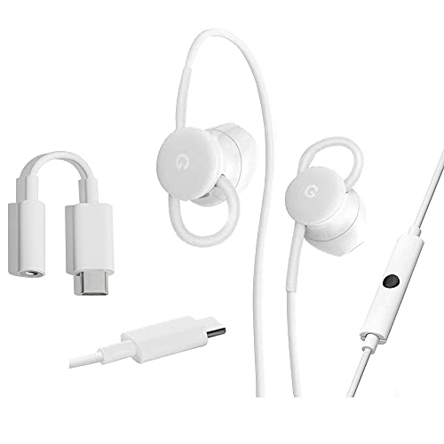 319CWz17doS. SL500  - Google Pixel USB-C Earbuds with in-Ear Google Assistant & Translation, USB-C to 3.5mm Adapter, USB-C USB 3.0 Adapter - Pixel Accessory Combo Kit