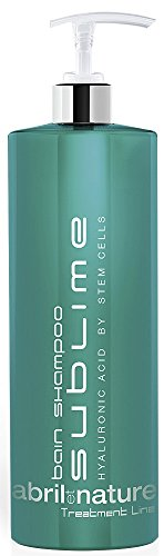 abril et nature - Bain Shampoo Sublime - Moisturising Shampoo - 1000ml - For Very Damaged Hair - Hair Treatment with Stem Cells - Contains Hyaluronic Acid and Caviar Extract - Anti Frizz