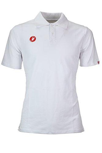 castelli Race Day Polo Shirt XL weiß