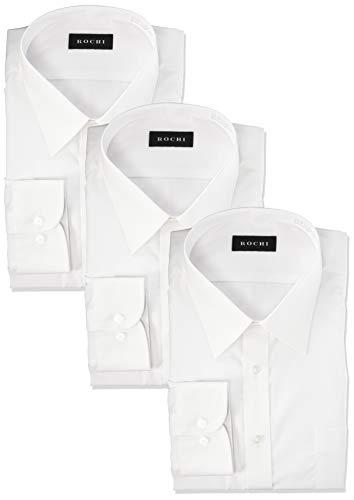[アオキ] 長袖 シャツ3点セット 【形態安定/抗菌防臭加工/立体縫製/ビジネス】 メンズ 白【レギュラーカラー】 L82(首周り41cm×裄丈82cm)