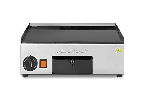 MILAN-TOAST Fry Top vitrocerámica lisa pequeña placa eléctrica para cocinas profesionales, 1,1...