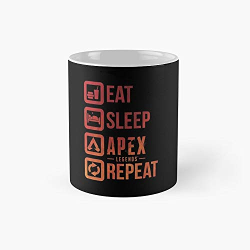 Eat Sleep Repeat Youtuber Streamer T-shirt Apex Tee Legendary Tshirt Gamer Gift Man Women Idea Coffee Mug Poster Geek Ideas 03 Classic Best Funny Mugs 11 Oz